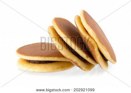 Dorayaki Japanese Snack Dorayaki Is A Japanese Bread Japanese Pancakes On White Background