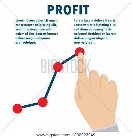 Profit Concept, Growing Business Graph