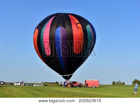 Lincoln, Illinois - Usa - August 25, 2017: Lincoln Balloon 2017