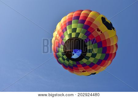 Lincoln, Illinois - Usa - August 25, 2017: Butterfly Air Balloon 2017