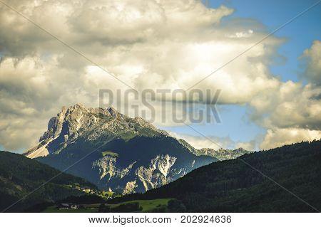 italian dolomites cloudscape peak trentino alto adige