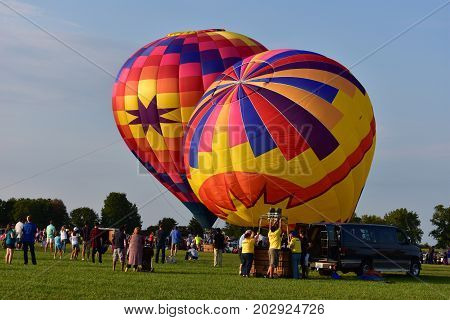 Lincoln, Illinois - Usa - August 25, 2017: Lincoln Air Balloon Fiesta