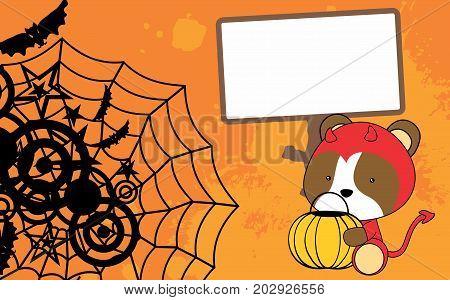 cute baby hamster cartoon halloween costume background in vector format