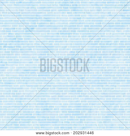 Blue Rectangle Slates Tile Pattern Repeat Background that is seamless and repeats 3D Illustration