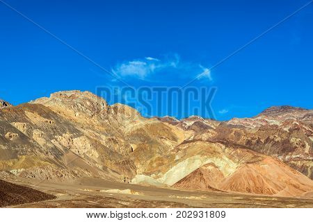 Beautiful dramatic hills as seen from Artists Drive in Death Valley California