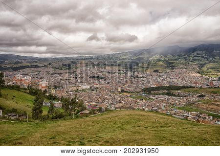 the city of Pasto Colombia seen from above