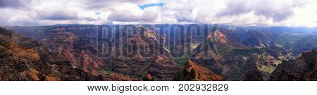 Waimea Canyon Kauai Hawaii USA panorama overlook