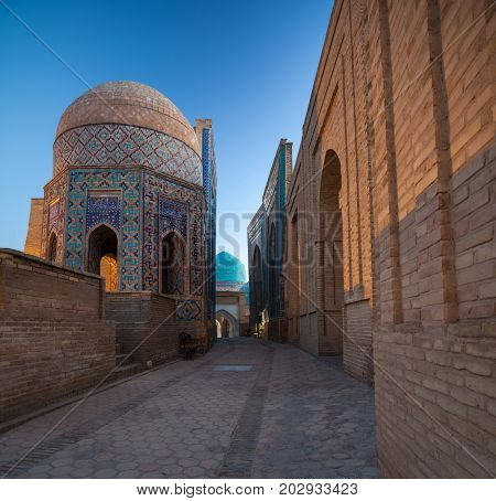 Ancient complex of buildings of Shakh i Zinda, Uzbekistan