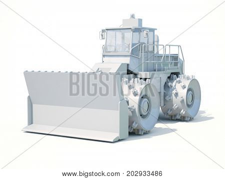 3d Render: Special Machines for the Construction Work, Special Equipment, Road Repair