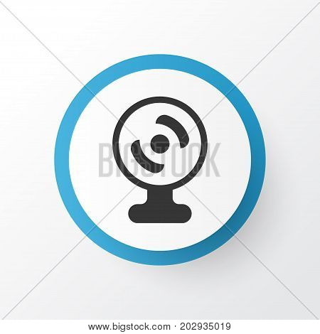 Premium Quality Isolated Web Camera Element In Trendy Style.  Webcam Icon Symbol.