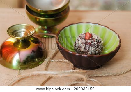 Healthy Sweets And Raw Food Diet Concept For Good Life.