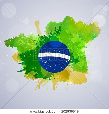 illustration of abstract Brazil flag on the occasion of Brazil Independence Day