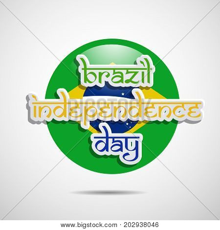 illustration of Brazil Independence Day text on the occasion of Brazil Independence Day