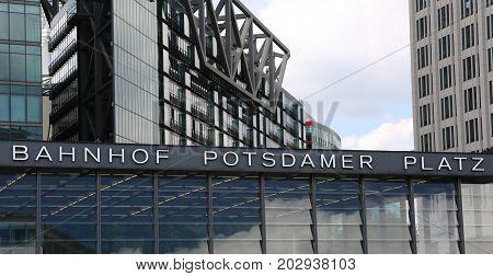 Berlin Street Subway Billboard called Potsdamer Platz poster