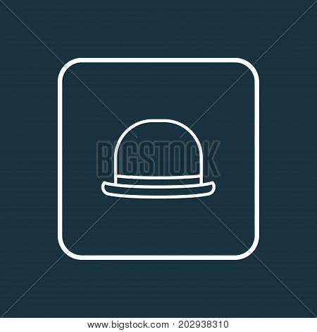 Premium Quality Isolated Fedora Element In Trendy Style.  Panama Outline Symbol.