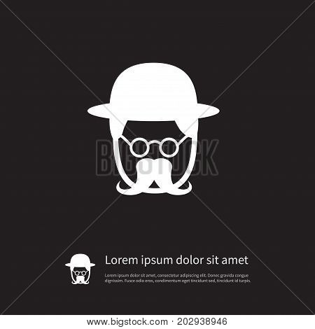 Detective Vector Element Can Be Used For Detective, Investigator, Man Design Concept.  Isolated Investigator Icon.