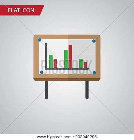 Whiteboard Vector Element Can Be Used For Chart, Whiteboard, Presentation Design Concept.  Isolated Chart Flat Icon.