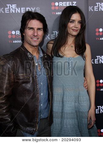 "LOS ANGELES - MAR 28:  Tom Cruise & Katie Holmes arrives to ""The Kennedys"" World Premiere  on April 11, 2011 in Hollywood, CA"