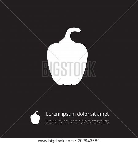 Capsicum Vector Element Can Be Used For Pepper, Bell, Paprika Design Concept.  Isolated Eating Icon.