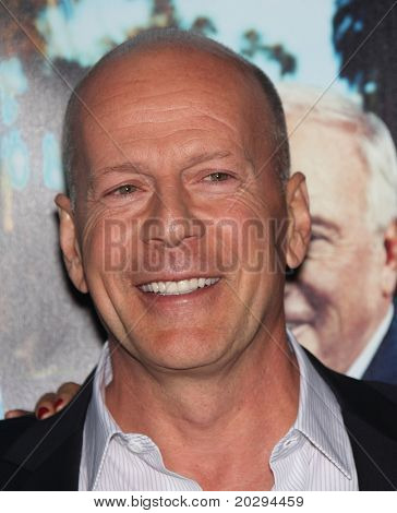LOS ANGELES - MAR 22:  Bruce Willis arrives to 'His Way' Los Angeles Premiere  on March 23, 2011 in Hollywood, CA