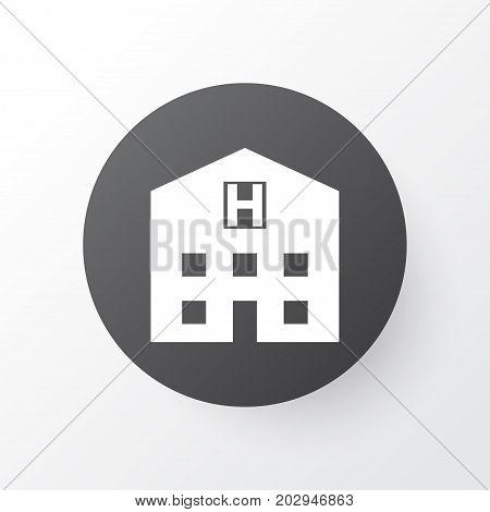 Premium Quality Isolated Retreat Element In Trendy Style.  Hospital Icon Symbol.