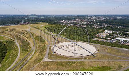 Aerial view of Horizon Observatory in Herten, North Rhine-Westphalia, Germany