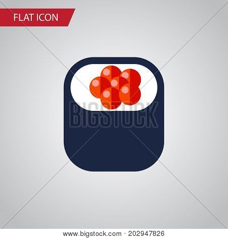 Eating Vector Element Can Be Used For Sashimi, Eating, Salmon Design Concept.  Isolated Sashimi Flat Icon.
