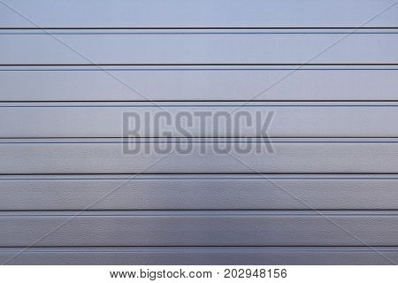 Gray Painted Corrugated Steel Fence Texture Wall