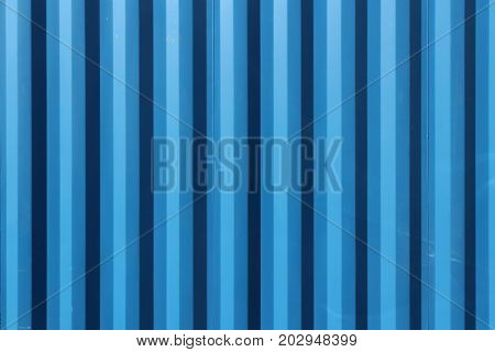 Blue Painted Corrugated Steel Fence Texture Wall