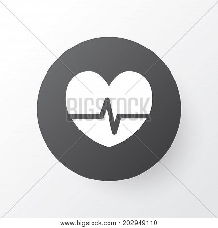 Premium Quality Isolated Rhythm Element In Trendy Style.  Pulse Icon Symbol.