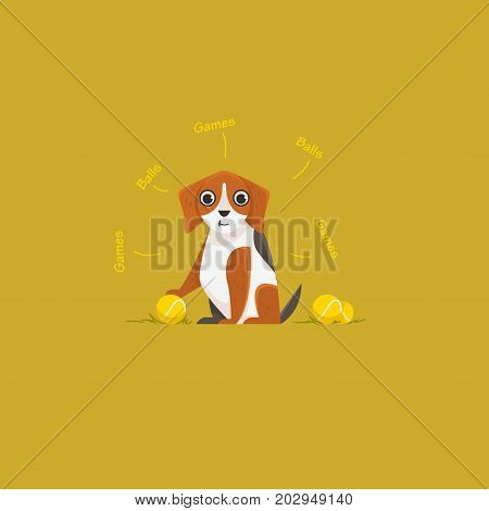 Illustration of Beagle. Vector illustration in cartoony style for your progect.