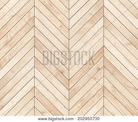 Natural brown wooden parquet herringbone. Wood texture