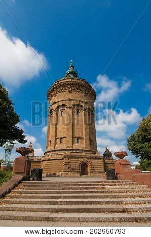 The historic Water Tower in Mannheim, Germany