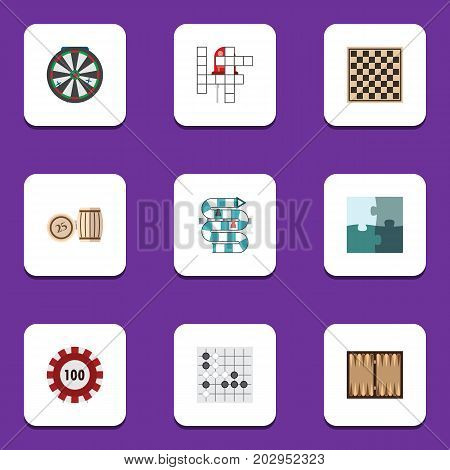 Flat Icon Games Set Of Lottery, Multiplayer, Guess And Other Vector Objects