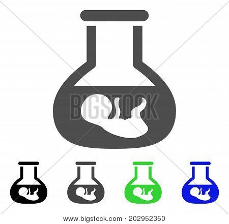 In Vitro Embryo icon. Vector illustration style is a flat iconic in vitro embryo symbol with black, gray, green, blue color variants. Designed for web and software interfaces.