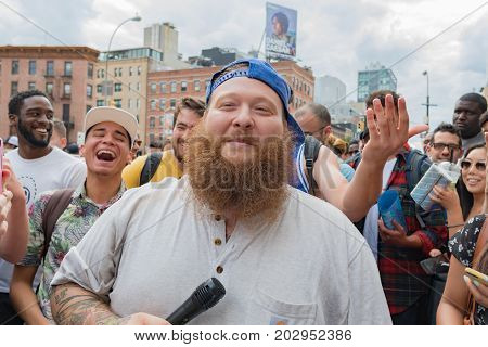 Action Bronson, Is An American Rapper, Singing Among His Fans