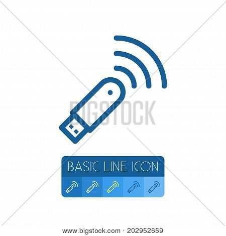 Wifi Vector Element Can Be Used For Router, Modem, Wifi Design Concept.  Isolated Modem Outline.