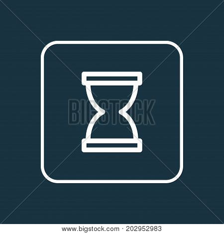 Premium Quality Isolated Hourglass Element In Trendy Style.  Sandglass Outline Symbol.