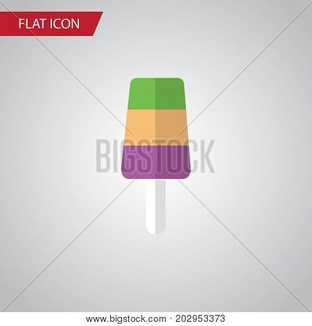 Sundae Vector Element Can Be Used For Sundae, Ice, Cream Design Concept.  Isolated Ice Cream Flat Icon.