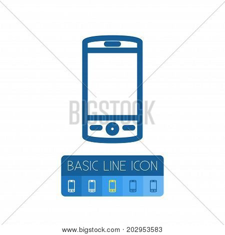 Touchscreen Vector Element Can Be Used For Cellphone, Touchscreen, Smartphone Design Concept.  Isolated Cellphone Outline.