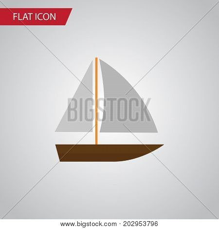Yacht  Vector Element Can Be Used For Boat, Yacht, Vessel Design Concept.  Isolated Vessel Flat Icon.