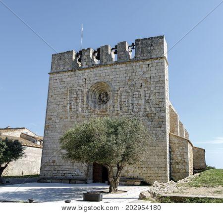 Church medieval village la escala sant marti of empuries. Catalonia Spain