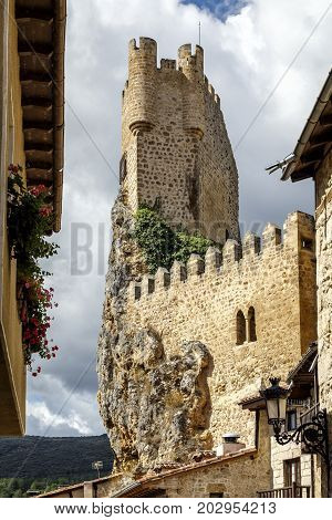 Castle of the city of Frias Burgos Spain in Europe