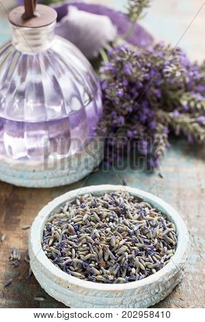Lavender Nature cosmetics handmade preparation of essential oils parfums creams soaps from fresh and dried lavender flowers French artisanal boutique home style