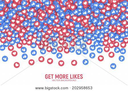 Facebook Vector 3D Social Network Like Icons Abstract Illustration Isolated on White Background. Design Elements for Web Internet App Advertisement Promotion Marketing SMM CEO Business