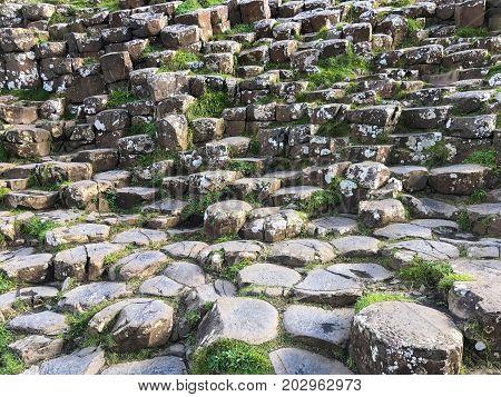 Northern Ireland Basalt Columns At Giants Causeway