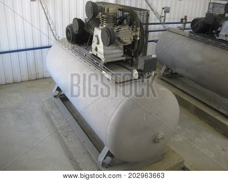 Air Compressor. Equipment For Creation Of Pressure  Air.