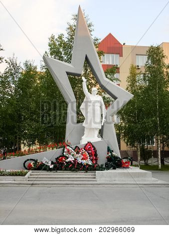 Monument To The Liberator In The City Of Nefteyugansk.