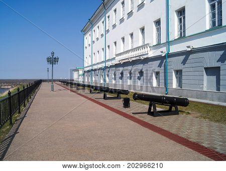 Tobolsk Kremlin. The Ancient Russian Temple In Siberia Tobolsk Kremlin
