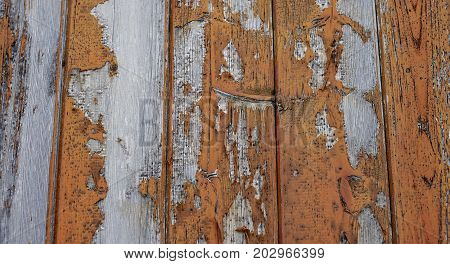 Old Cracked Wooden Fence Or Floor Close-up